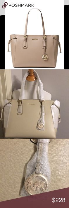 f7720b55b Michael Kors MD Voyager Leather tote oat color Still has all protective  packaging on it.