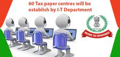 60 Tax Payer centres established by the I-T Department. I-T department will established over 60 Aaykar Seva Kendra in India.