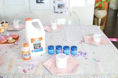 Slime Party: How To Host an Easy and No-Mess Slime Making Party - Real Time - Diet, Exercise, Fitness, Finance You for Healthy articles ideas Backyard Birthday Parties, Indoor Birthday, Wild One Birthday Party, 7th Birthday, Birthday Ideas, Puffy Slime Recipe, Diy For Kids, Crafts For Kids, Easter Crafts