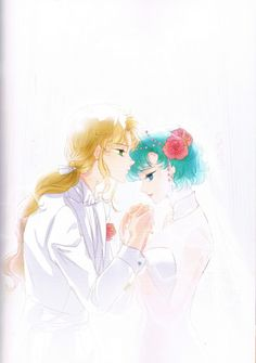 Grand Royal Wedding (Zoisite & Ami)  Fanart by UTSUKI  Photoart from  ELOPE TO THE EARTH