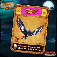 Dragons: Rise of Berk - Dreadfall Toothless card