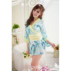 b1c276e0a74 Amazon.com  Succubus Hot Fashion Sexy Japanese Sakura Kimono Costume Girl s  Woman s Lingerie Set  Toys   Games