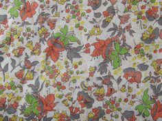 r e s e r v e d // 1920s Early 30s Muted Summer Autumn Floral Fabric // over 3 yards