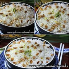 Este Arroz Thai com Leite de Coco é super soltinho e com o leve toque de leite de coco.  #Receita aqui: http://www.gulosoesaudavel.com.br/2015/07/07/arroz-thai-leite-coco/
