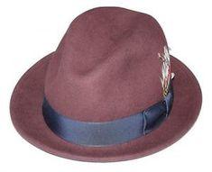 Men s Fedora Hat Broner Crushable Water Resistant Wool Melodrama Wine  Burgundy Dress Hats 548fdfb4dd71
