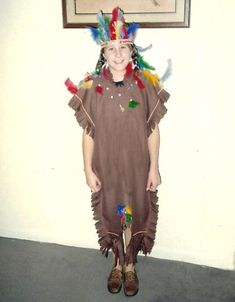 1b15551f0ae How to make your own homemade Native American Indian Halloween Costume for  your kids--boys or girls! DIY