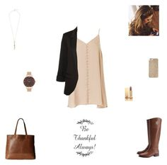 """""""thanksgiving outfit #1"""" by synclairel ❤ liked on Polyvore featuring Tory Burch, Olivia Burton, SOREL, Yves Saint Laurent, Michael Kors, Cole Haan, Fall, cute, casual and ootd"""