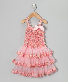 Take a look at this Pink Calico Ruffle Dress - Infant & Toddler by Head over Heels on #zulily today!
