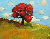 Landscape painting 234 16x20 inch original impasto impressionistic oil painting by Roz