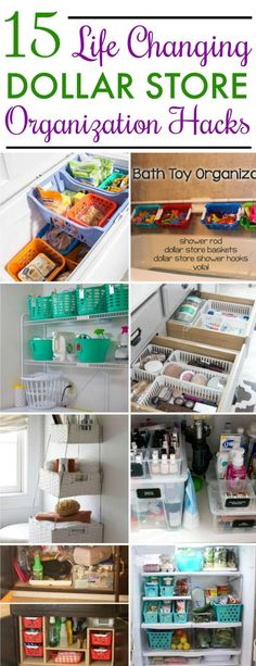 15 Dollar Store Organization Ideas For Every Area In Your Home. OMG! I love these cheap storage hacks to get my whole house organized! The worst rooms of mine are the kitchen and bathroom. Time to tak (Dollar Store Camping Hacks)