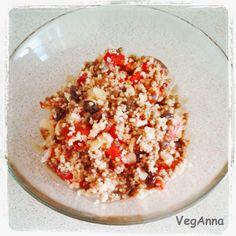 Salad with grilled peppers and couscous / Sałatka z opiekanej papryki i razowym kuskusem