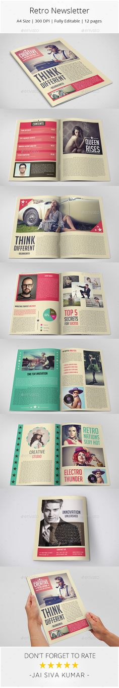 Retro Style Newsletter - Newsletters Print Templates Download here : https://graphicriver.net/item/retro-style-newsletter/9951388?s_rank=229&ref=Al-fatih