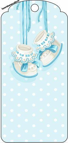 Zapatitos de Bebé: Tarjetería para Imprimir Gratis.