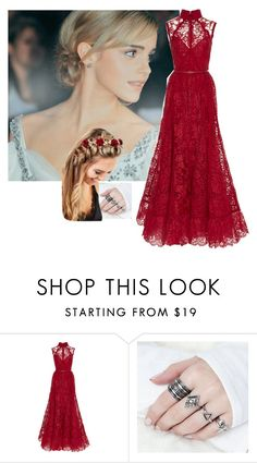 """""""{prp}"""" by heavydirtysoul-anons ❤ liked on Polyvore featuring Emma Watson, Elie Saab and Johnny Loves Rosie"""