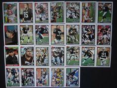 1991 Topps Los Angeles Raiders Team Set of 26 Football Cards Football Cards, Baseball Cards, Raiders Team, Ebay, Soccer Cards