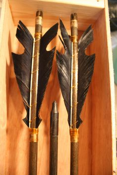 Fantasy / medieval Wood Archery Arrows by TraditionalArtchery, $40.00