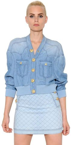 Lyocell Denim Bomber Jacket | #Chic Only #Glamour Always