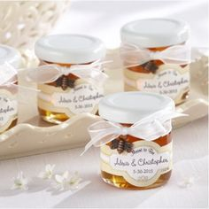"""""""Meant to Bee"""" Mini Personalized Honey Jars by Beau-coup"""