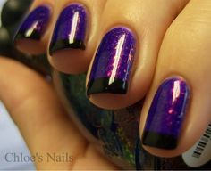 Nfu-Oh 51.For this mani I used a base of Color Clubs Fashion Addict, 2 coats of Nfu-Oh 51, my regular black & Essie Matte About You, later down the road, lol, and of course Scotchtape.Here was