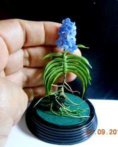 mini orchid Vanda - handmade in clay cold porcelain
