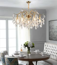 This Antique Brass Crystal Chandelier is inspired by an Asian willow tree with many branches and infusions. It expresses a feeling of freedom and the art of random. The Crystal chandelier lighting is composed by a large metal or copper frame and a number of high quality China K9 crystals. Antique Brass Chandelier, Crystal Chandelier Lighting, E14 Led, Copper Frame, Willow Tree, Your Space, Branches, Freedom, Bulb