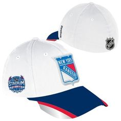 a5e3523e88a Reebok New York Rangers 2014 Stadium Series Structured Reflective Flex Hat  - White Royal Blue