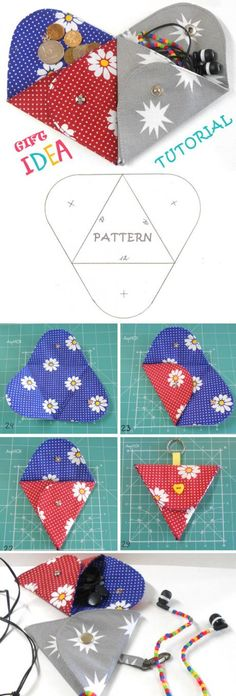 Triangle Folding Pouch Tutorial Triangle Folding Pouch pattern is a creative DIY accessory. Tutorial & Pattern Triangle Folding Pouch Tutorial Triangle Folding Pouch pattern is a creative DIY accessory. Sewing Hacks, Sewing Tutorials, Sewing Crafts, Sewing Projects, Sewing Patterns, Sewing Diy, Sewing Ideas, Diy Crafts, Pouch Pattern