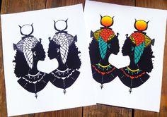 Two Cleopatras, African American Art, Lauryn Hill, Afro Art, Cut Paper Art…