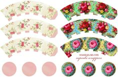 free printable cupcake wrappers.....Shabby Blogs: freebies