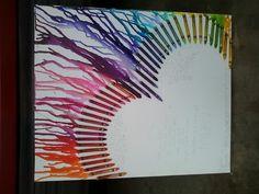 Crayon melting art...that I did:D