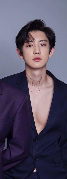 Ughh those glitters and open chest and expression. Chanyeol Cute, Park Chanyeol Exo, Baekhyun Chanyeol, Kpop Exo, Exo Kokobop, Chanbaek, Chansoo, Baekyeol, Shinee