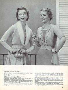 Vivian & Lula • 1950s Bridal Wedding Jacket Patterns • 50s Vintage Knitting Cardigan Sweater Pattern • Retro Men's Women's Knit Digital PDF