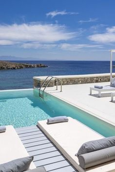 A Putting your feet up for the weekend in Mykonos Dream Vacation Spots, Vacation Trips, Dream Vacations, Beach Honeymoon Destinations, Travel Destinations, Best Resorts, Hotels And Resorts, Places To Travel, Places To Go