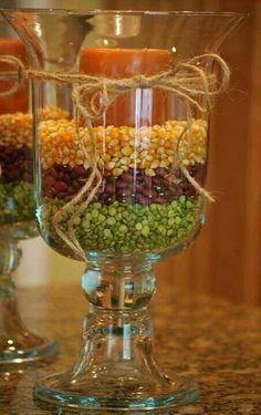 Corn, beans, cranberries...kitchen counter
