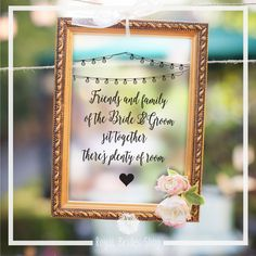 Wedding Sign Decal - Friends And Family
