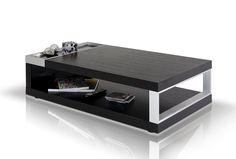 Modrest Gemstone Modern Black Oak Coffee Table VGHB112A-OAK