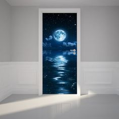 Door STICKER waterfall landscape cataract water mural decole film