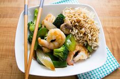 An easy to prepare recipe that's packed with delicious, plump shrimp and veggies!