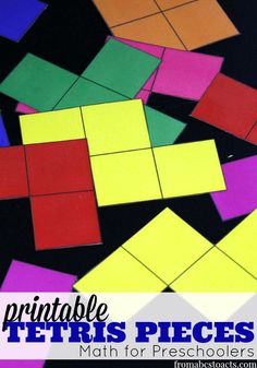 Talk about a throwback!  Teach your preschooler early math concepts as well as critical thinking and problem solving skills just by playing with these printable Tetris pieces!