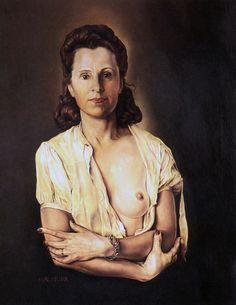 Salvador Dali    Galarina / Galarina    1944-1945. Tuval üzerine yağlıboya. 64.1 x 50.2 cm. Gala-Salvador Dali Foundation, Figueras.