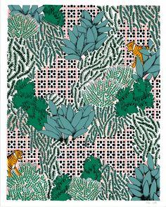 Jungle Tiles Claudia Borfiga Print Club London