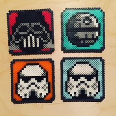 Star Wars coaster set perler beads by nintendien