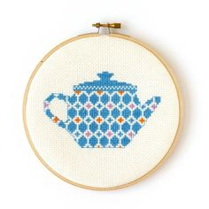 Cross Stitch Kit - Teapot