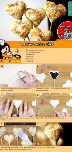 Mini jam hearts recipe with video. Detailed steps on how to prepare this easy and simple Mini jam hearts recipe! Hungarian Desserts, Hungarian Recipes, Healthy Diet Recipes, Cooking Recipes, Monkey Food, Easter Cake Pops, Valentines Day Food, Winter Food, Diy Food