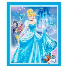 Disney Princess Movie Moments, Blue, 100% Cotton, 43/44