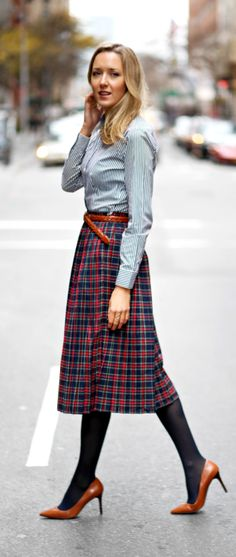 The Classy Cubicle: Plaits, Pleats and Plaid