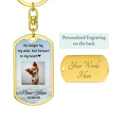 Excited to share this item from my #etsy shop: Pet Memorial Personalized Engraved Keychain|Christmas Gift|Accessories|18k Gold Key Chain|Remembrance Pet Gift|Friend Gift Idea #christmas #birthday #silver #petphotocharm #petremembrancegift #petmemorialgift #petphotokeychain #personalizedgifts #christmasgiftidea Christmas Birthday, Christmas Gifts, Christmas Ornaments, Engraved Dog Tags, Pet Remembrance, Pet Memorial Gifts, Pet Memorials, Key Chain, Gifts For Friends