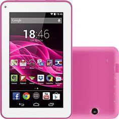 "Tablet Multilaser ML Supra 8GB Wi-Fi Tela 7"" Android 4.4 Quad Core - Rosa - Americanas.com"