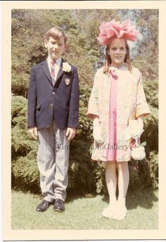 Kids at Easter 1966 Original Color by VintagePhotoGallery on Etsy