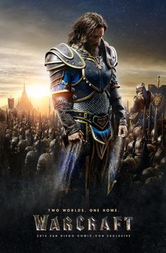 At San Diego Comic-Con 2015 today, the World of Warcraft movie coming for 2016 put out two new poster concepts giving equal weight to the Alliance and Horde. Here are images for the film's two. Warcraft 2016, Travis Fimmel, Cinema Tv, I Love Cinema, Penny Dreadful, San Diego Comic Con, Internet Movies, Movies Online, Warcraft Comics